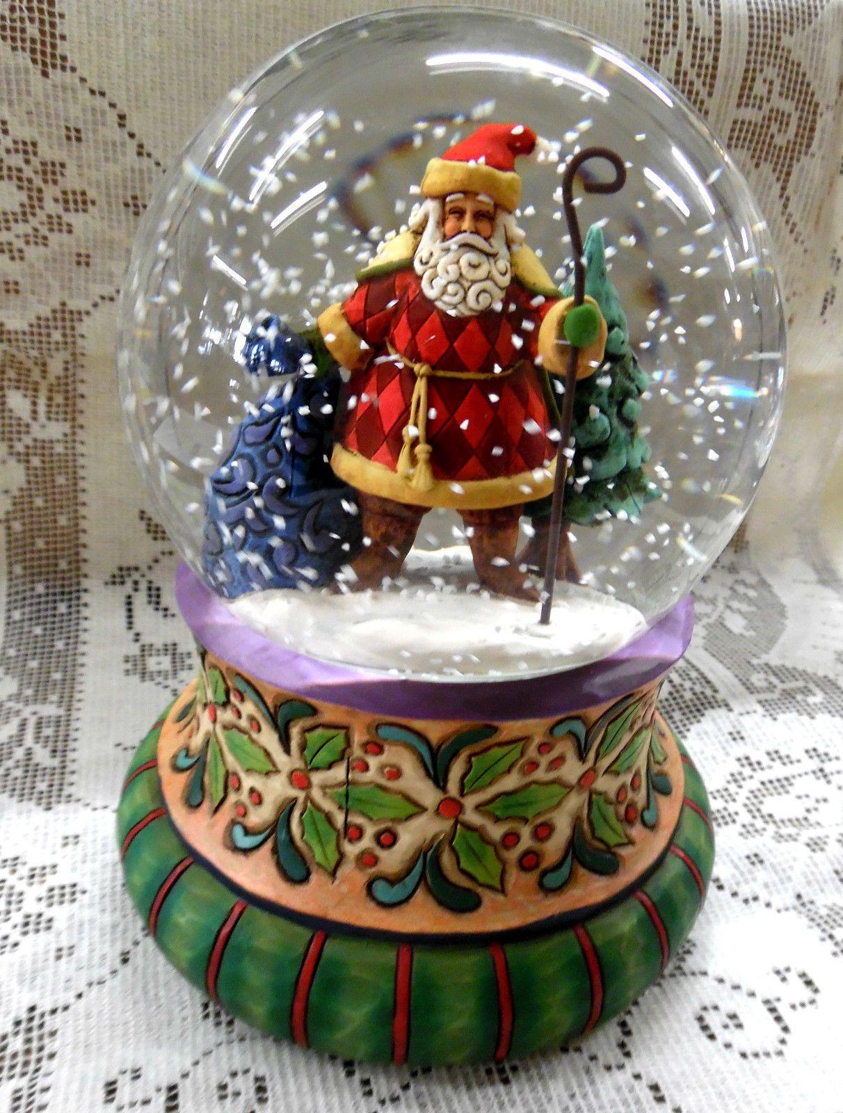 2007 Jim Shore Heartwood Creek Santa w Cane Musical
