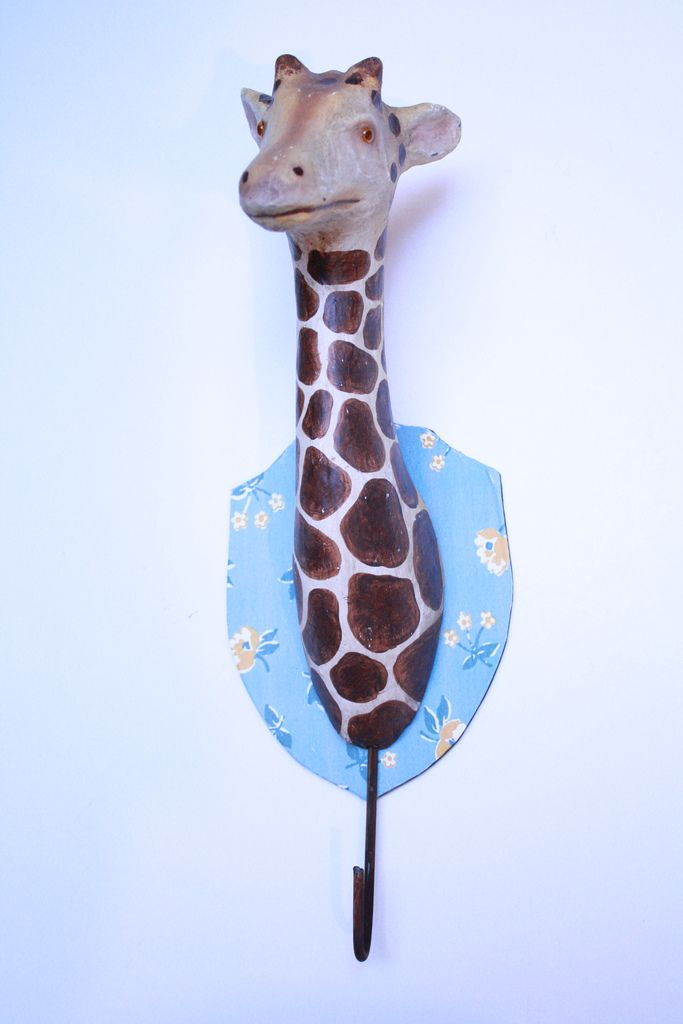 Paper mache giraffe hook $72 at Loopy Mango - SoHo Boutique - 78 Grand St., New York - Product