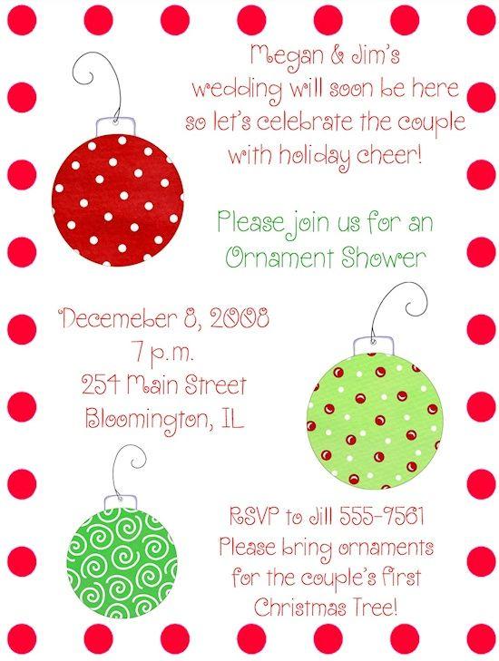 christmas wedding shower   Christmas Ornament wedding shower   kaitlin's  wedding - Christmas Wedding Shower Christmas Ornament Wedding Shower
