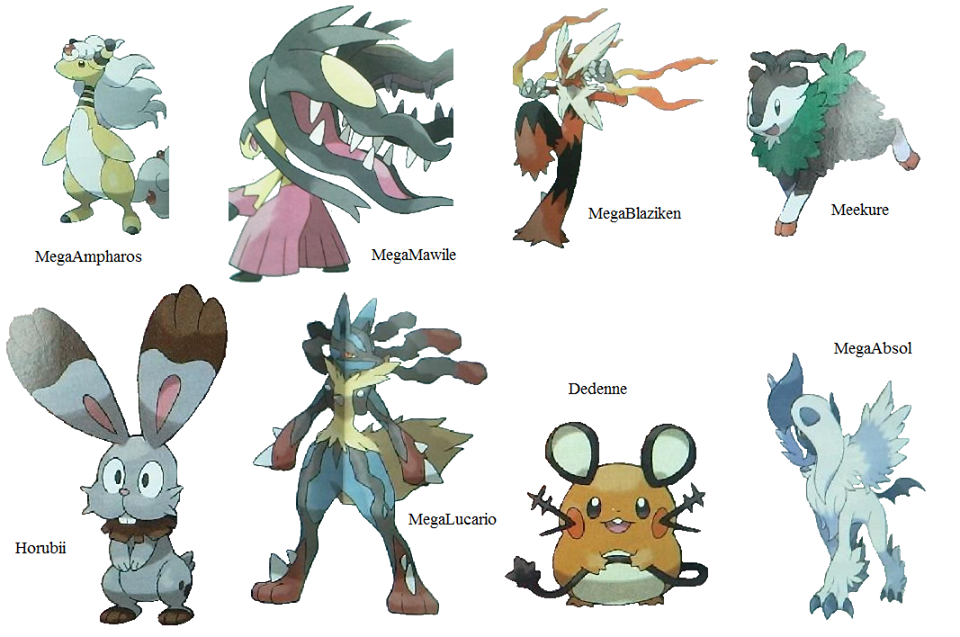 new pokemon for x and y