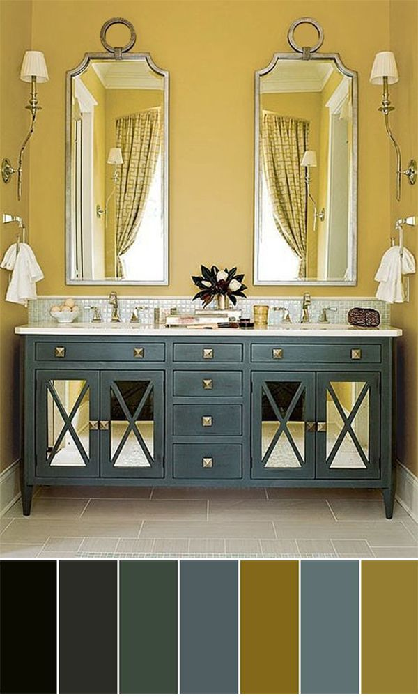 This is a great cabinet with glass doors and the wall color brings ...