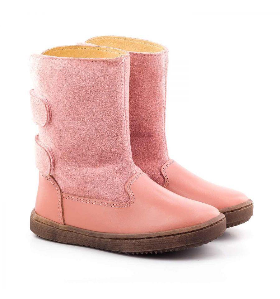 les boni ange sont des bottes enfants entièrement en cuir et daim