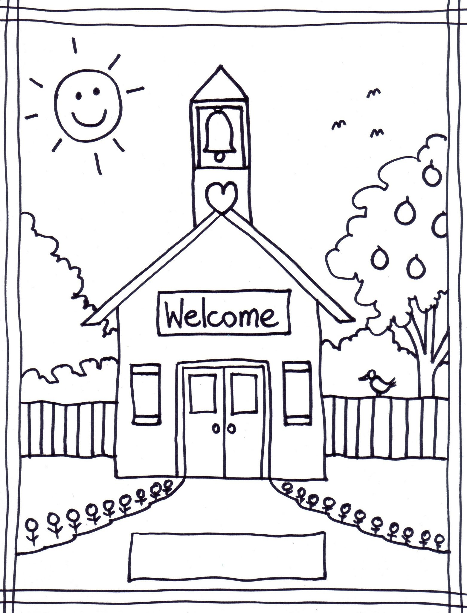 Coloring pages for kindergarten graduation - Back To School Coloring Pages Free Printables Image 22