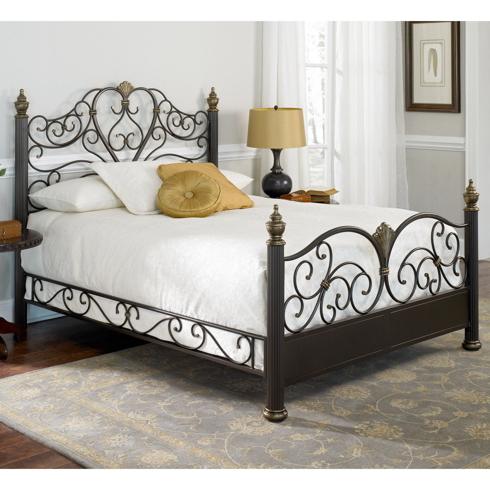 Elegance iron bed iron and metal beds for Metal bedroom furniture