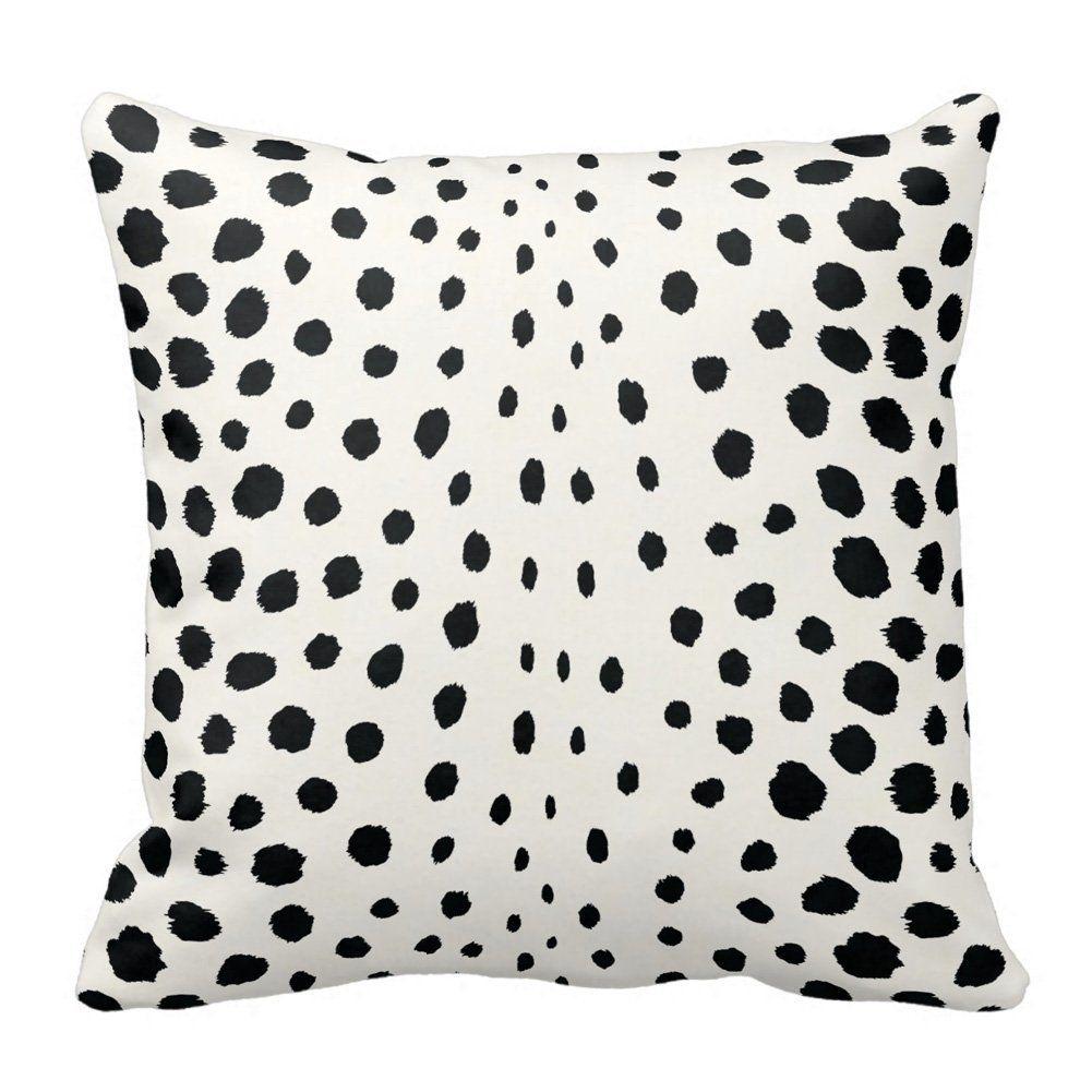 Amazon.com: Chic Black White Cheetah Print Throw Pillow Case ...