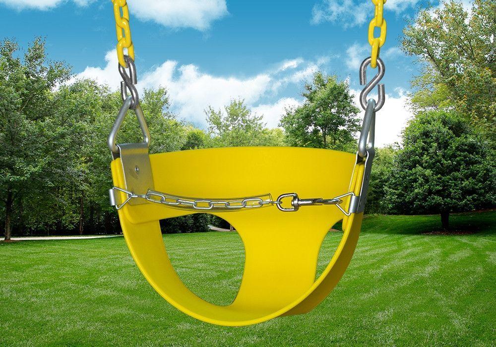 Gorilla Playsets Half Bucket Toddler Swing (04-0010-Y/Y)