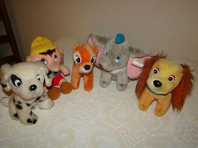 Hardee's 1985 Disney Plush Toys Bambi, Lady, Dumbo