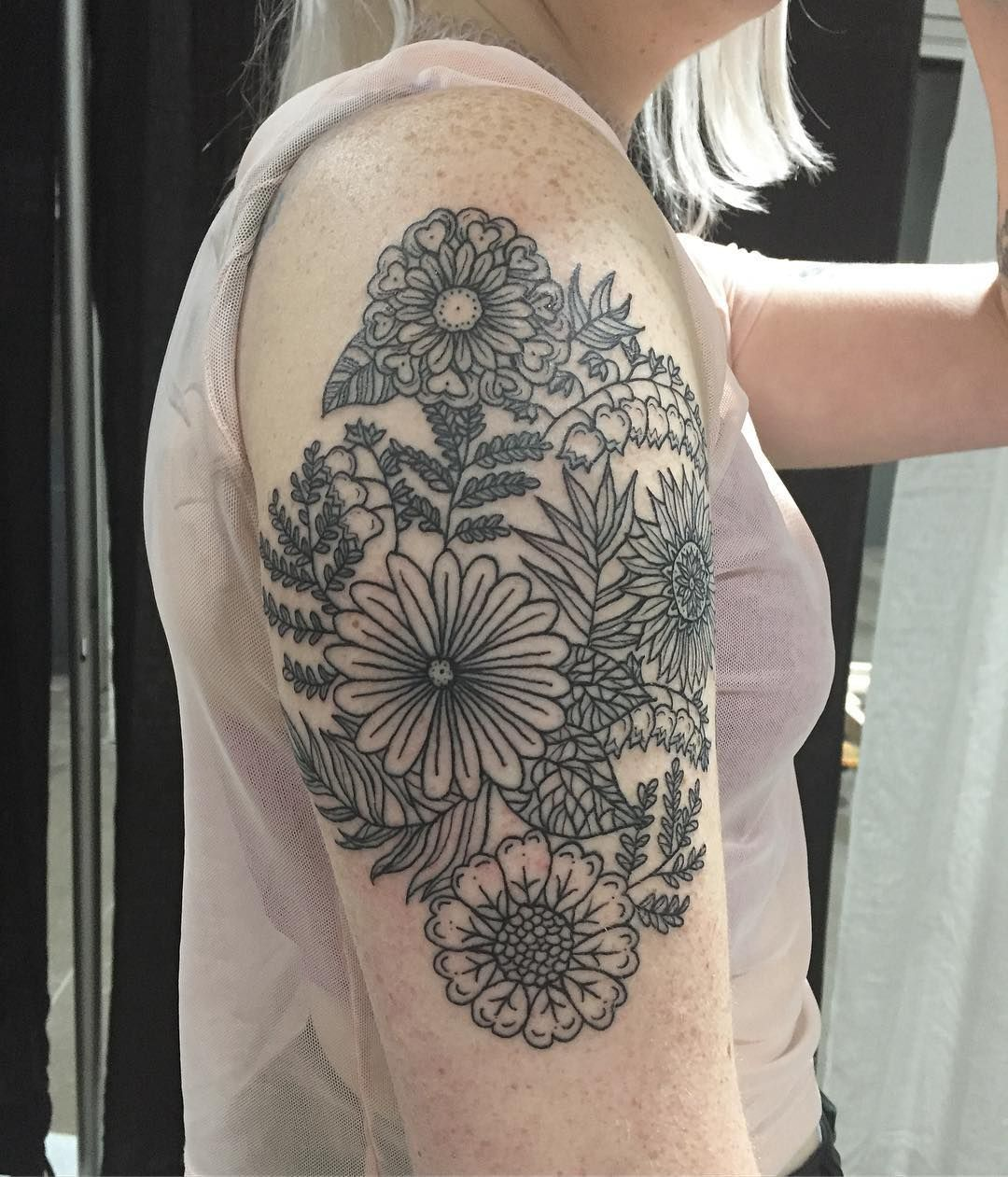 1970's inspired floral design on Alissa. Thank you