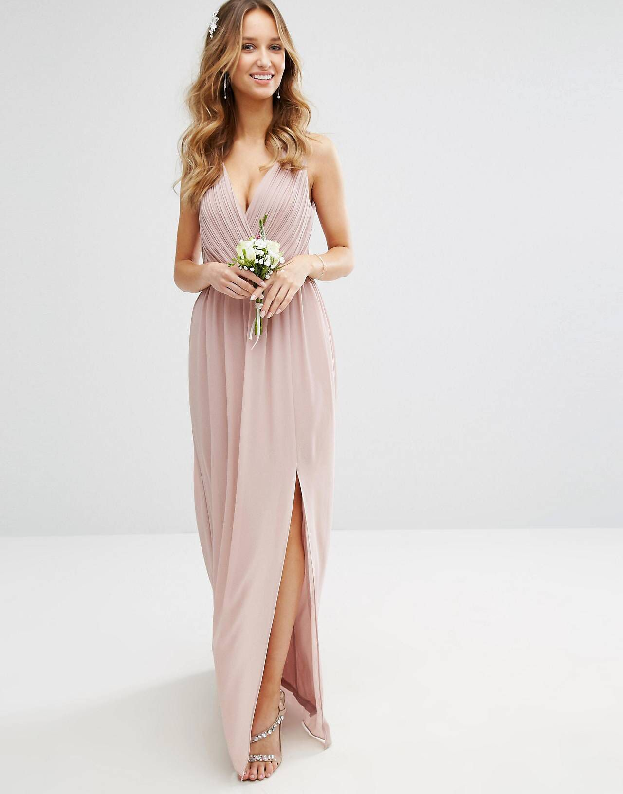 TFNC WEDDING Pleated Maxi Dress With Back Detail | Pinterest ...