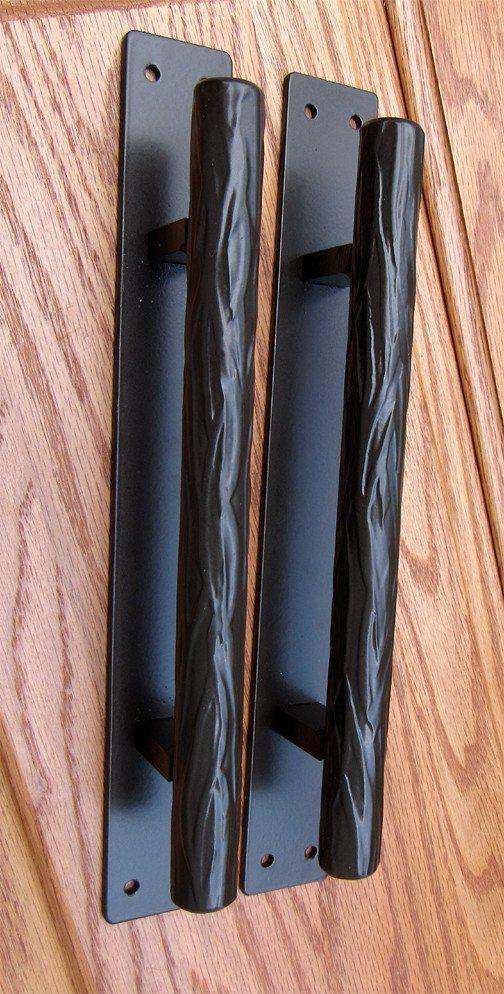 Tree Branch Door Pull 1 Dark Bronze Powder Coat Finish 10 Handle 12 Back Plate Barn Door Handles Door Pulls Barn Door