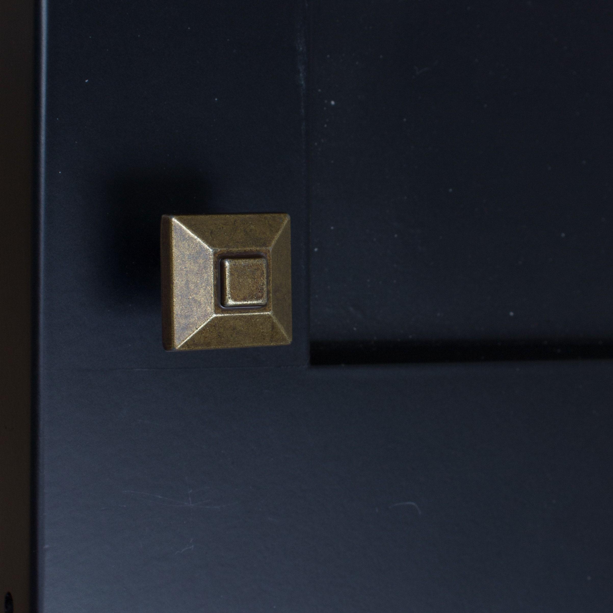 16 for 10 GlideRite 0 875 inch Square Pyramid Antique Brass Cabinet