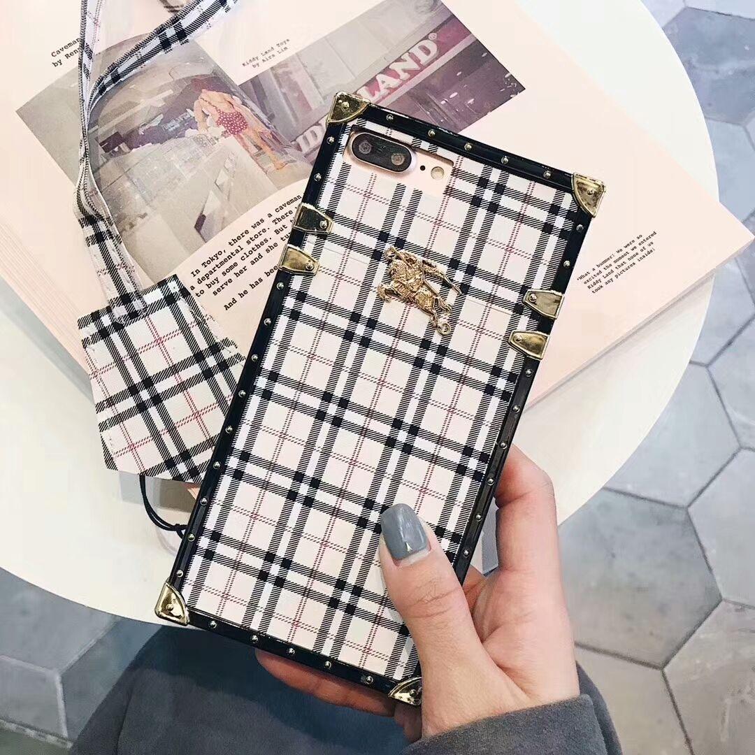 Burberry Case For iphone x/iphone6/6plus/7/7plus/8/8plus Cover ...