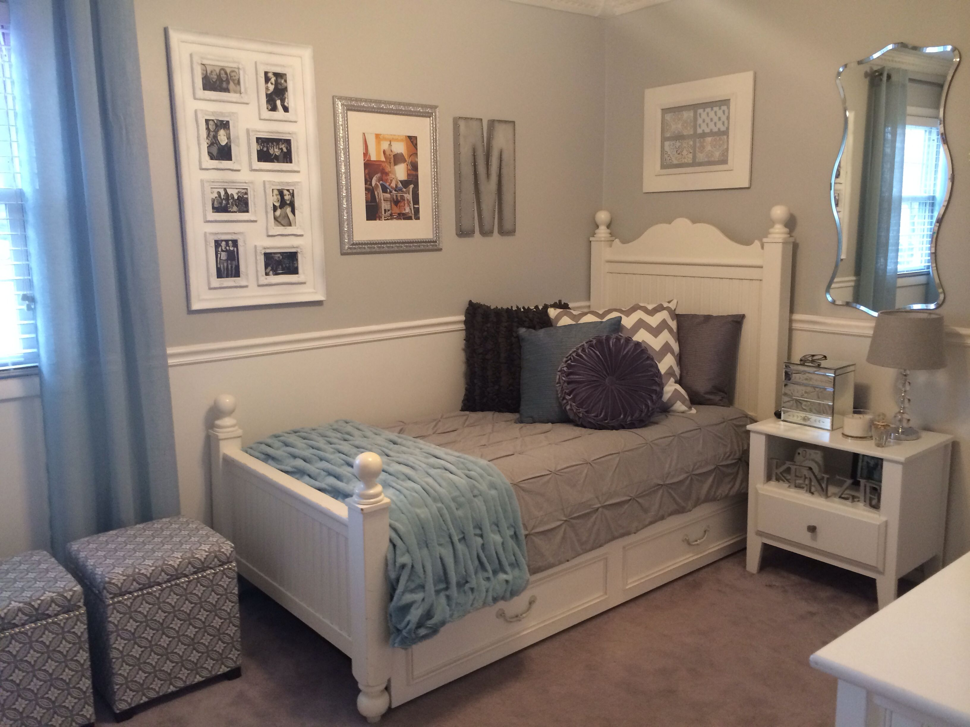 Teen Girl 39 S Room Walls Are Sherwin Williams Passive For The Home Pinterest
