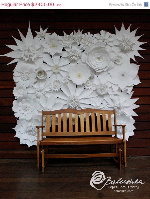 On sale paper flower wall 6 x 5 with embellished by balushka on sale paper flower wall 6 x 5 with embellished by balushka mightylinksfo