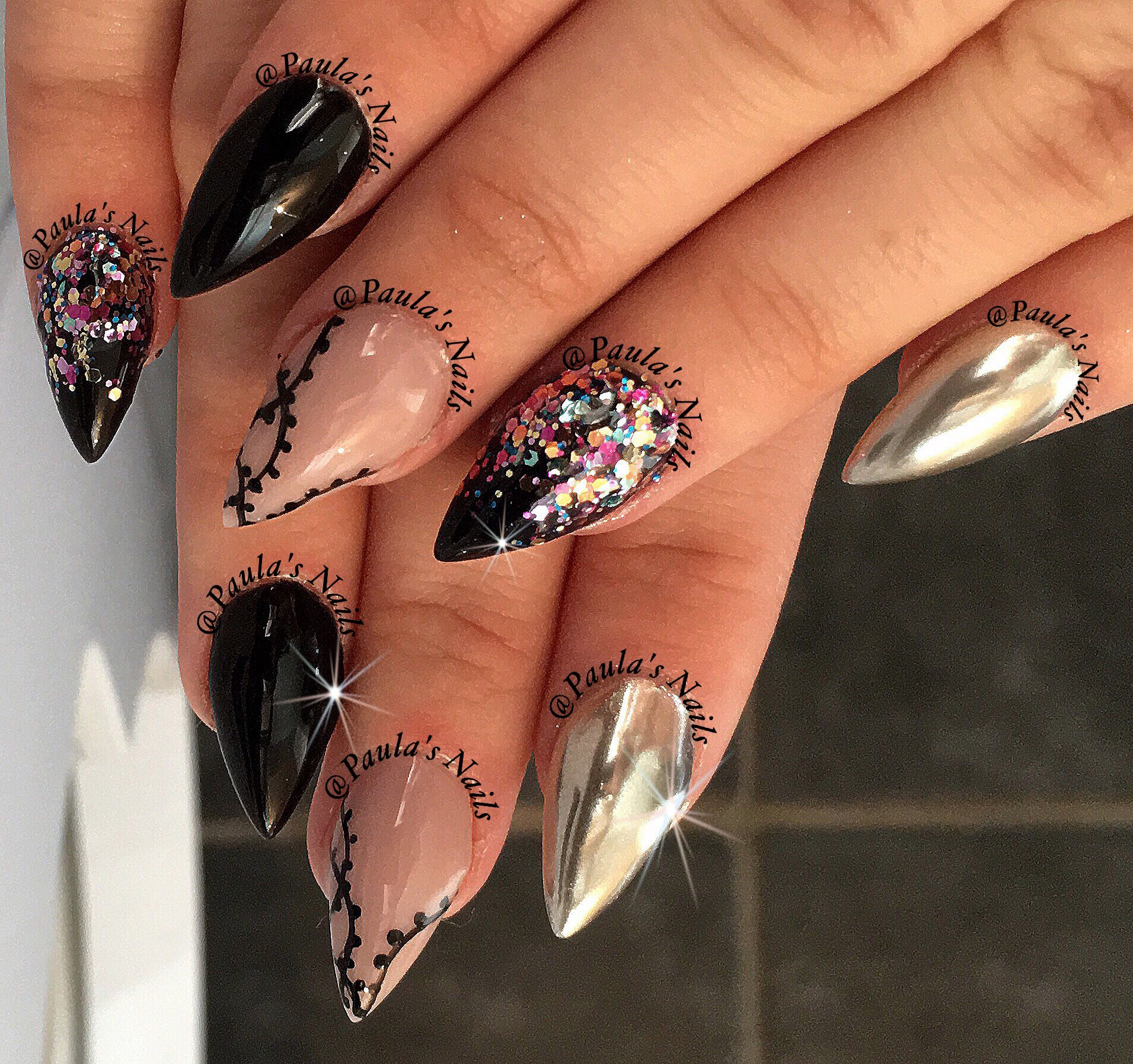 Stiletto nails Nail art Acrylic nails | Acrylic nails | Pinterest