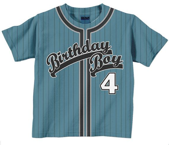 3096439d0e1 Birthday Boy Shirt - Personalized Baseball Jersey T-Shirt - Any Color - Any  Name on Etsy