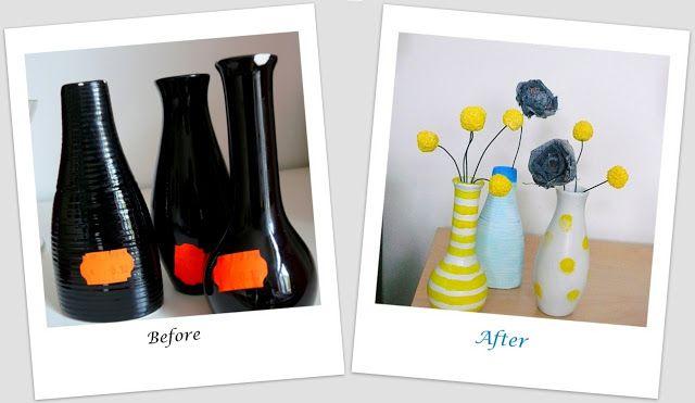 Ann-Kay Home: DIY: Vase Trio Makeover