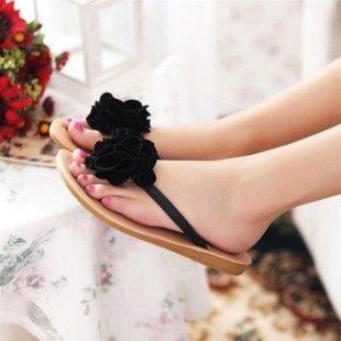 Flower Flip Flops Flat Sandals Flip