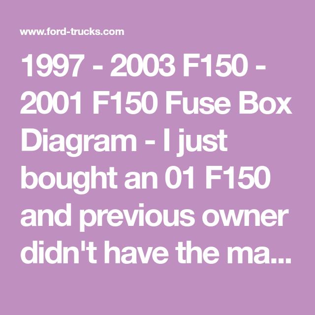 1997 - 2003 F150 - 2001 F150 Fuse Box Diagram