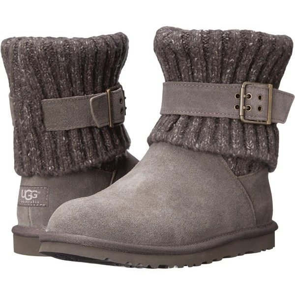 UGG Cambridge Women's Boots, Gray ($119) ❤ liked on Polyvore featuring shoes, boots, ankle booties, ugg, footwear, ankle boots, grey, gray booties, ...