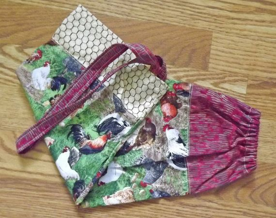 Plastic bag holder. Grocery bag holder. Roosters by pelecypods2 (Home & Living, Kitchen & Dining, Kitchen Décor, plastic bag holder, bag holder, kitchen bag holder, rooster bag holder, rooster fabric, hen bag holder, hen fabric, handmade, kitchen, houseware)
