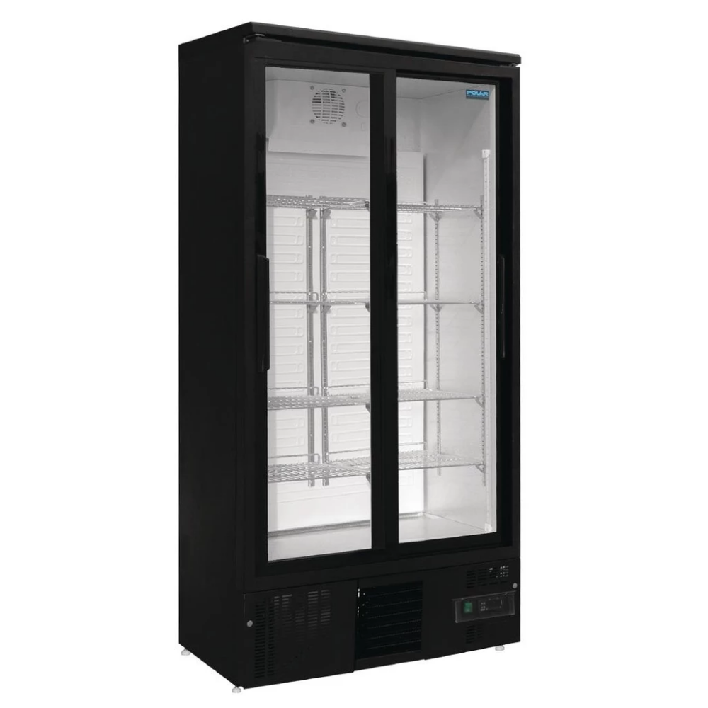 Polar Upright Back Bar Cooler 2 Door Sliding Doors In 2020 Back Bar Sliding Doors Double Sliding Doors