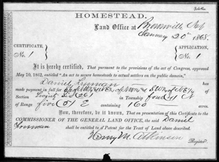 Nebraska is first to digitize homestead records : Lincoln
