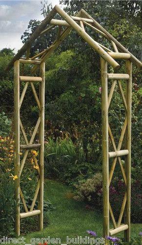 80 270x125x 45cm New Rustic Garden Wooden Arch Wood Archway