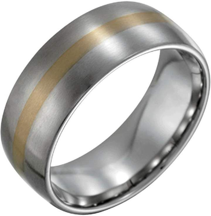 Steel By Design Men S W 14k Gold Inlay Satin Ring Qvc Com Steel By Design Mens Accessories Jewelry Stainless Steel Rings