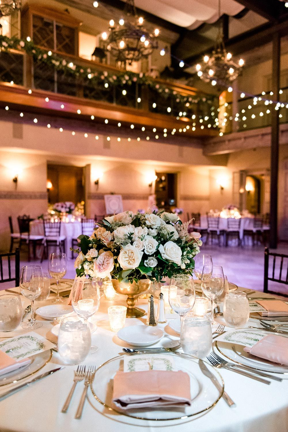 Photo of round table wedding reception