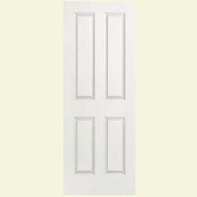 Masonite 4 Panel Smooth Hollow Core Primed Composite Interior Door Slab Discontinued 20112 The Home Depot Doors Interior Wood Doors Interior Oak Fire Doors