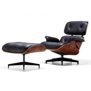 eames lounge chair zwart rosewood vitra home run pinterest