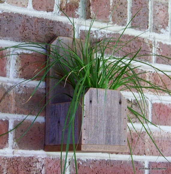 Rustic Wood Planter Box Rustic Home Decor Farmhouse Decor Recycled Natural Weathered Rough Cedar On Ets House Decor Rustic Wood Planters Handmade Home Decor