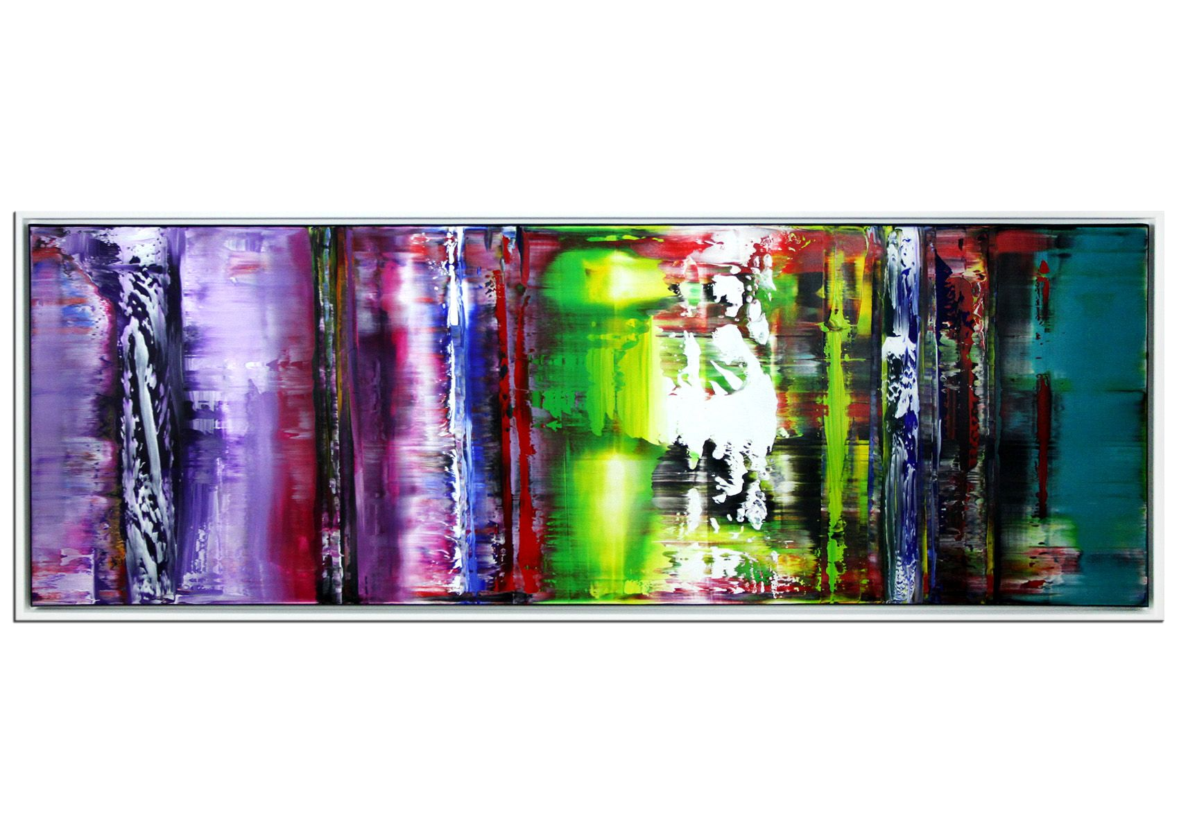 panoramaformat im sf rahmen lebensinhalt original acrylgemalde abstrakt zeitgenossische abstrakte kunst acrylmalerei häuser leinwand acryl
