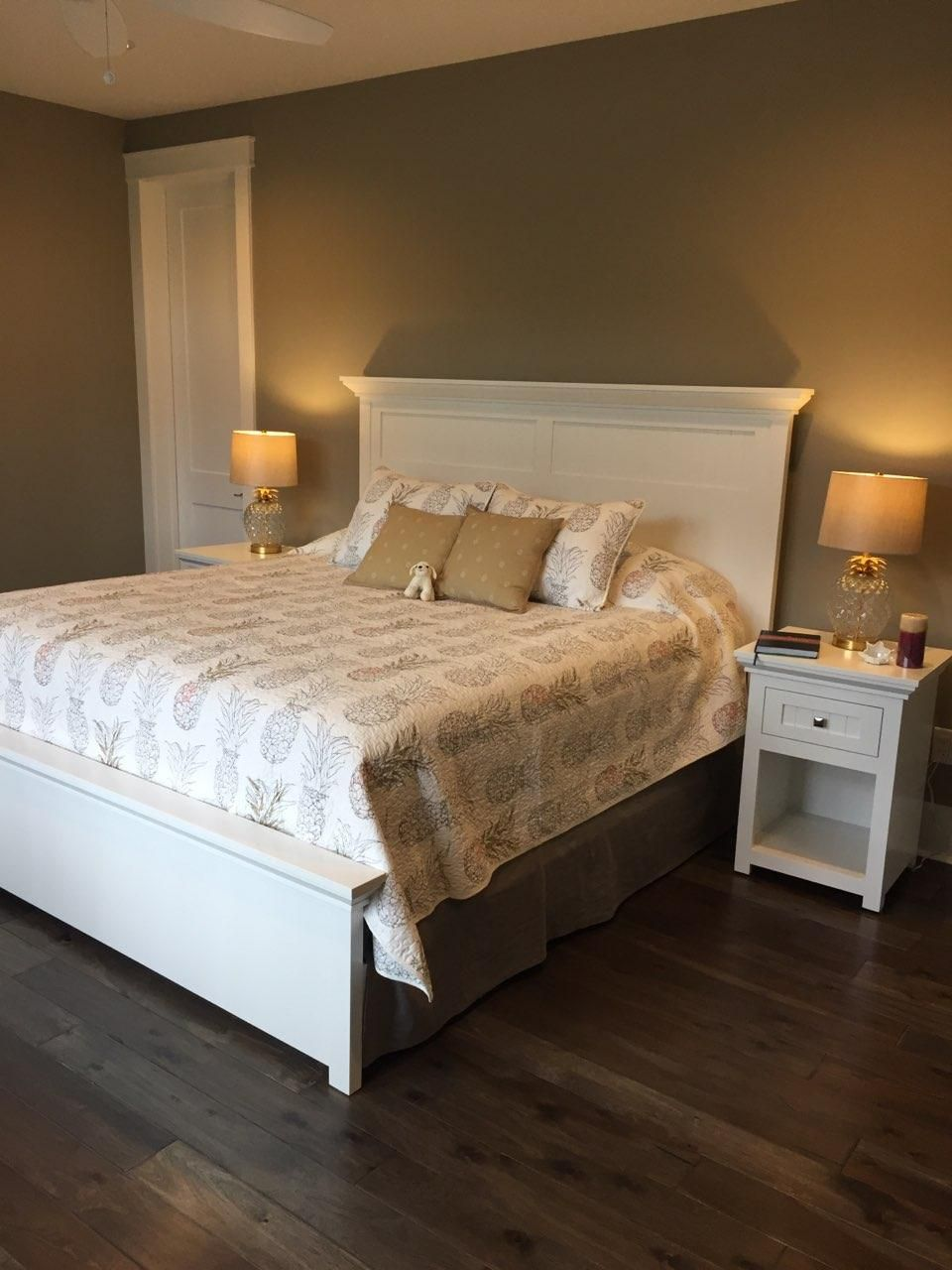 A new bedroom suite, custom made with a white painted