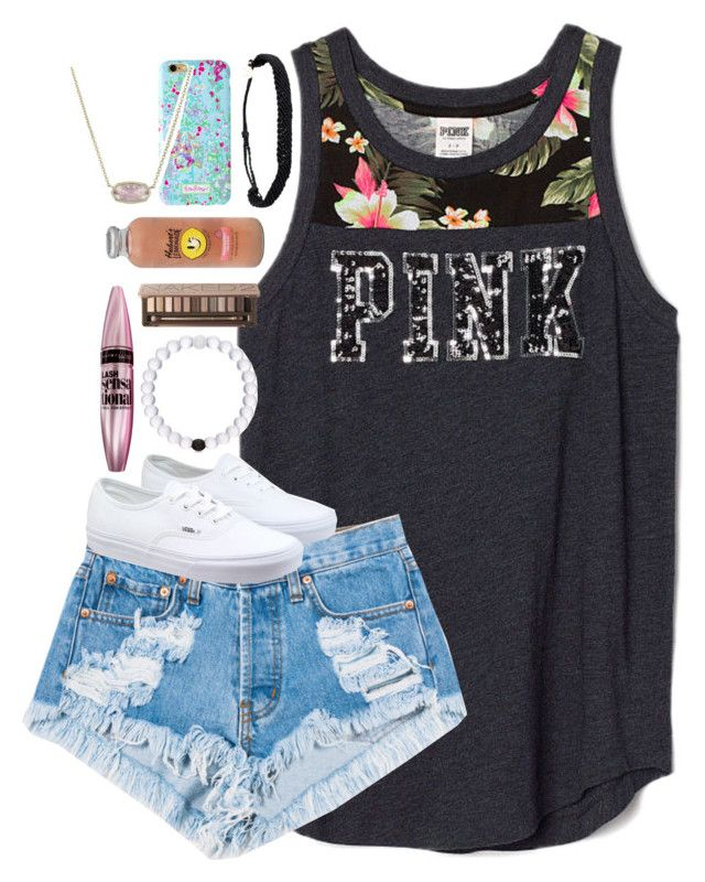 """back at again with the white vans "" by shannaolo ❤ liked on Polyvore featuring Levi's, Vans, Maybelline, Urban Decay, Hansen, Pura Vida and Kendra Scott"