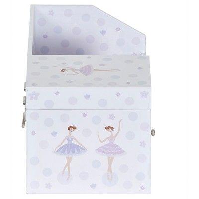 Mele & Co. Joss Girls' Musical Ballerina Jewelry Box & Organizer, White