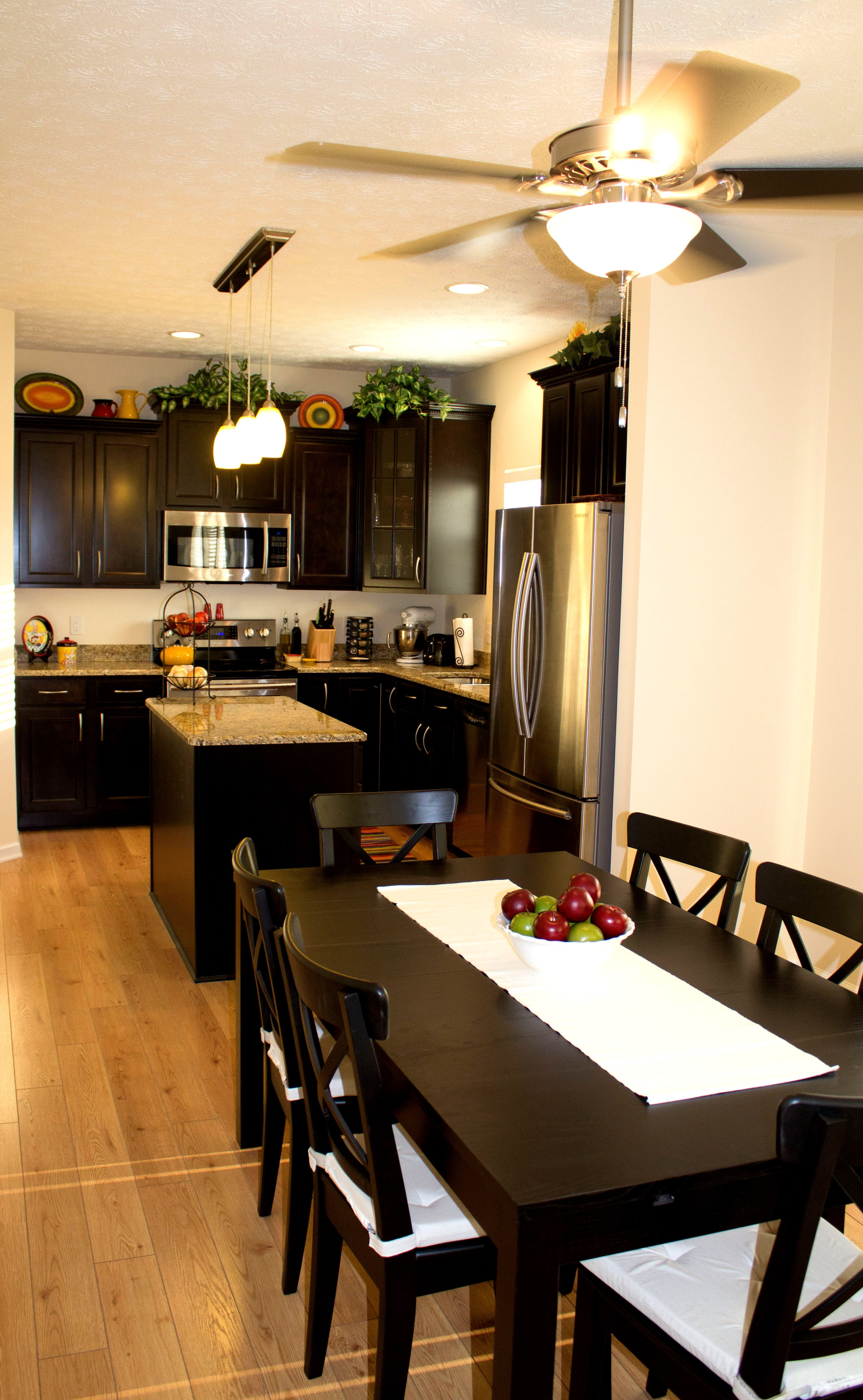 Espresso Kitchen Cabinets With Stainless Steel Appliances