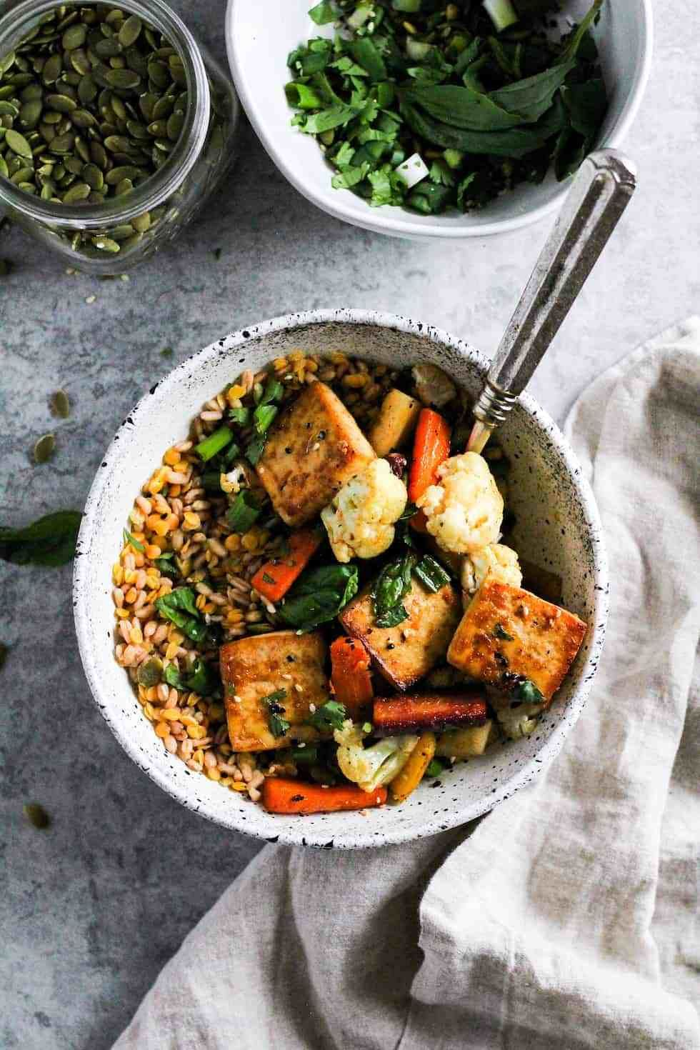 Sheet Pan Tofu Bowls