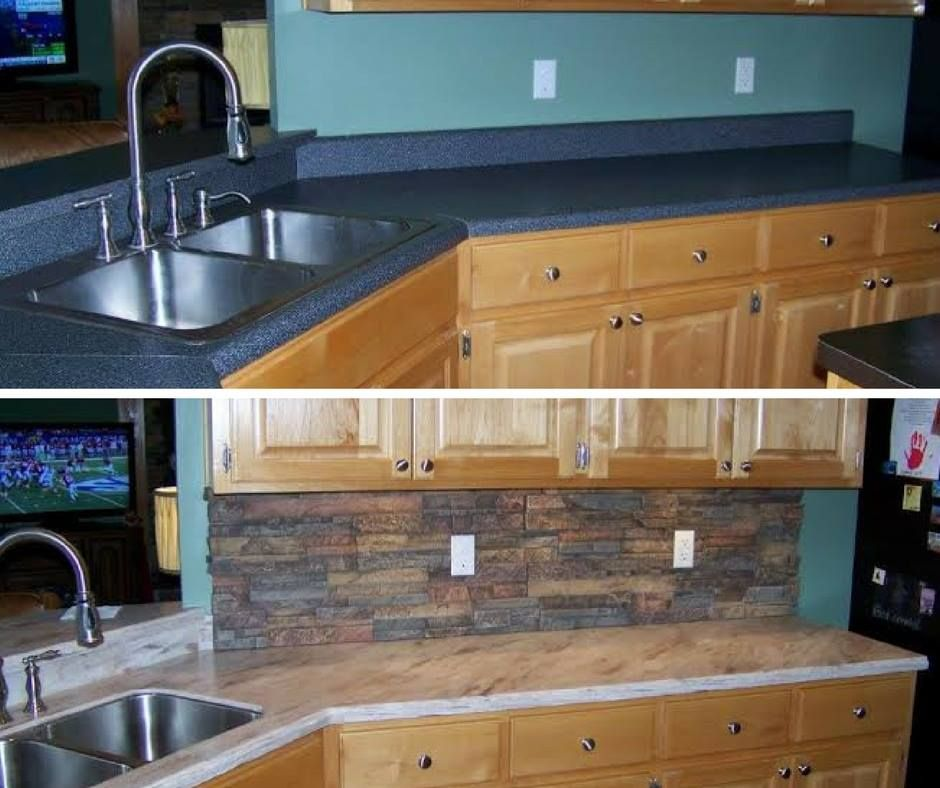 Dupont Corian Solid Surface Countertops Before And After Kitchen