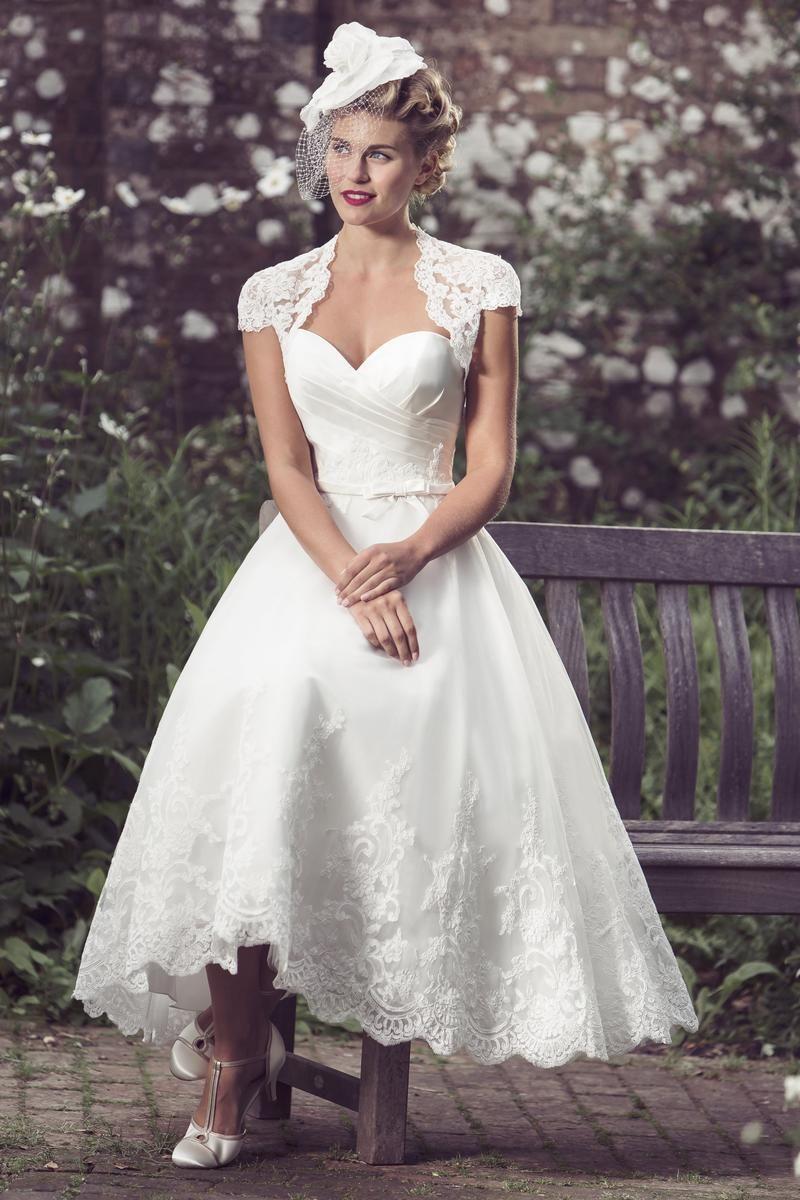 Tea Length Bridal And 50 S Style Short Wedding Dresses Brighton Belle Aubrey Tea Length Wedding Dresses Lace Wedding Dress Cap Sleeves Short Wedding Dress [ 1200 x 800 Pixel ]
