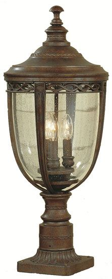Exceptionnel Feiss For Less OL3008 BRB English Bridle 3 Light 23 Inch Exterior Post Light  In British Bronze   MF OL3008 BRB