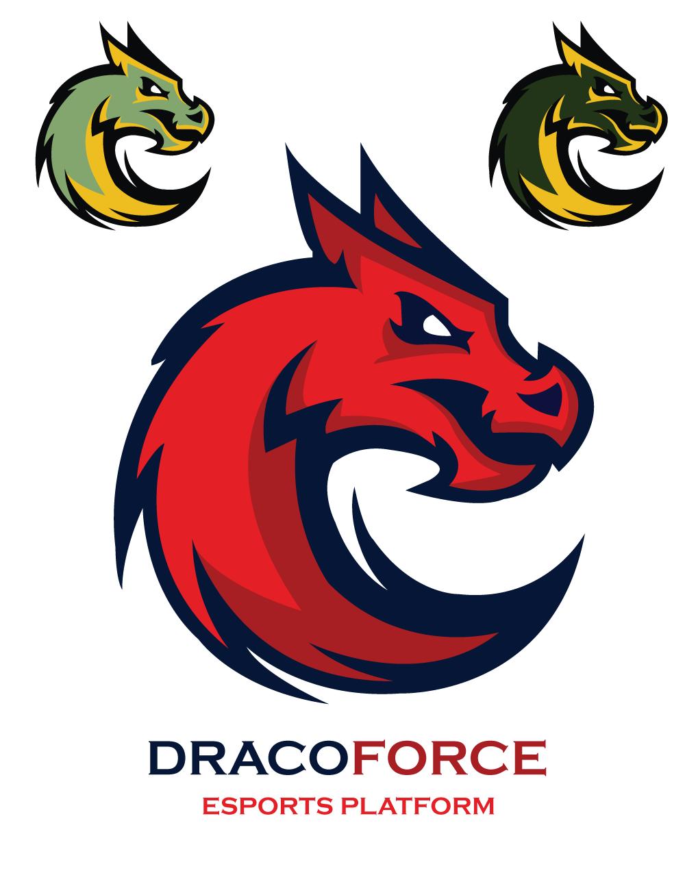 Dragon Force Logo Template On Behance Dragon Icon Graphic Design Illustration Dragon Illustration