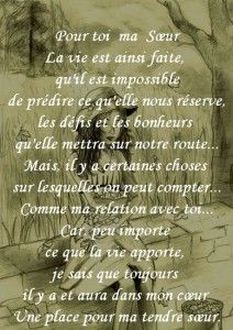 Texte Et Carte Pour Toi Ma Soeur Soeurs Citation Citation