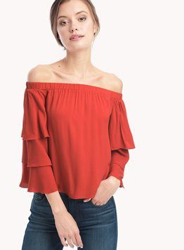 6dc9d50c5b7 Stella Ruffle Off Shoulder Top