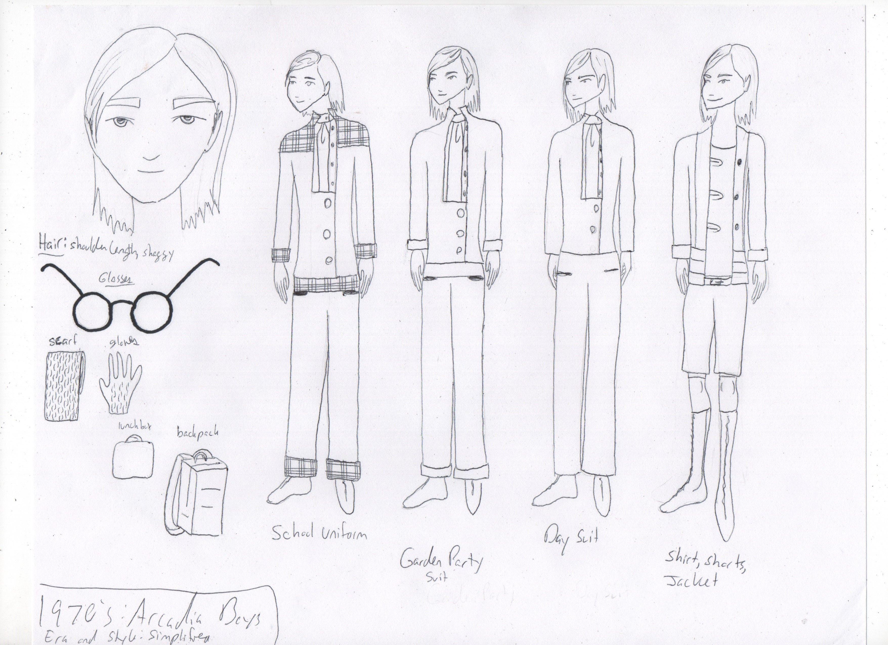 Arcadian Fashion: 1970's. Boy's Fashion: Part 1 of 2.    Arcadia  -  Paradox  -  Cheryl Feeley