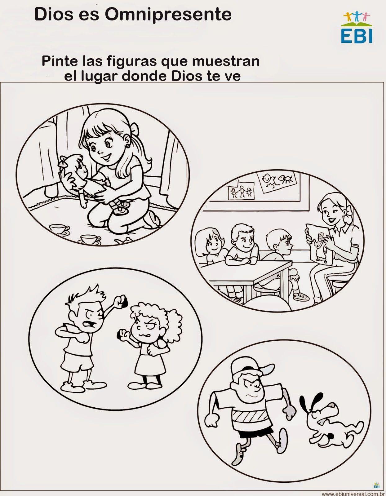 Dios es omnipresente.. | Воскресная школа - MISC | Pinterest | Dios ...