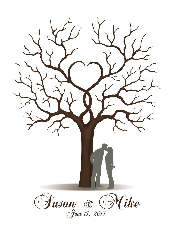 Wedding Guest Book Printable Jpeg By Custombybernolli On Etsy Guest Book Tree Wedding Tree Guest Book Diy Guest Book