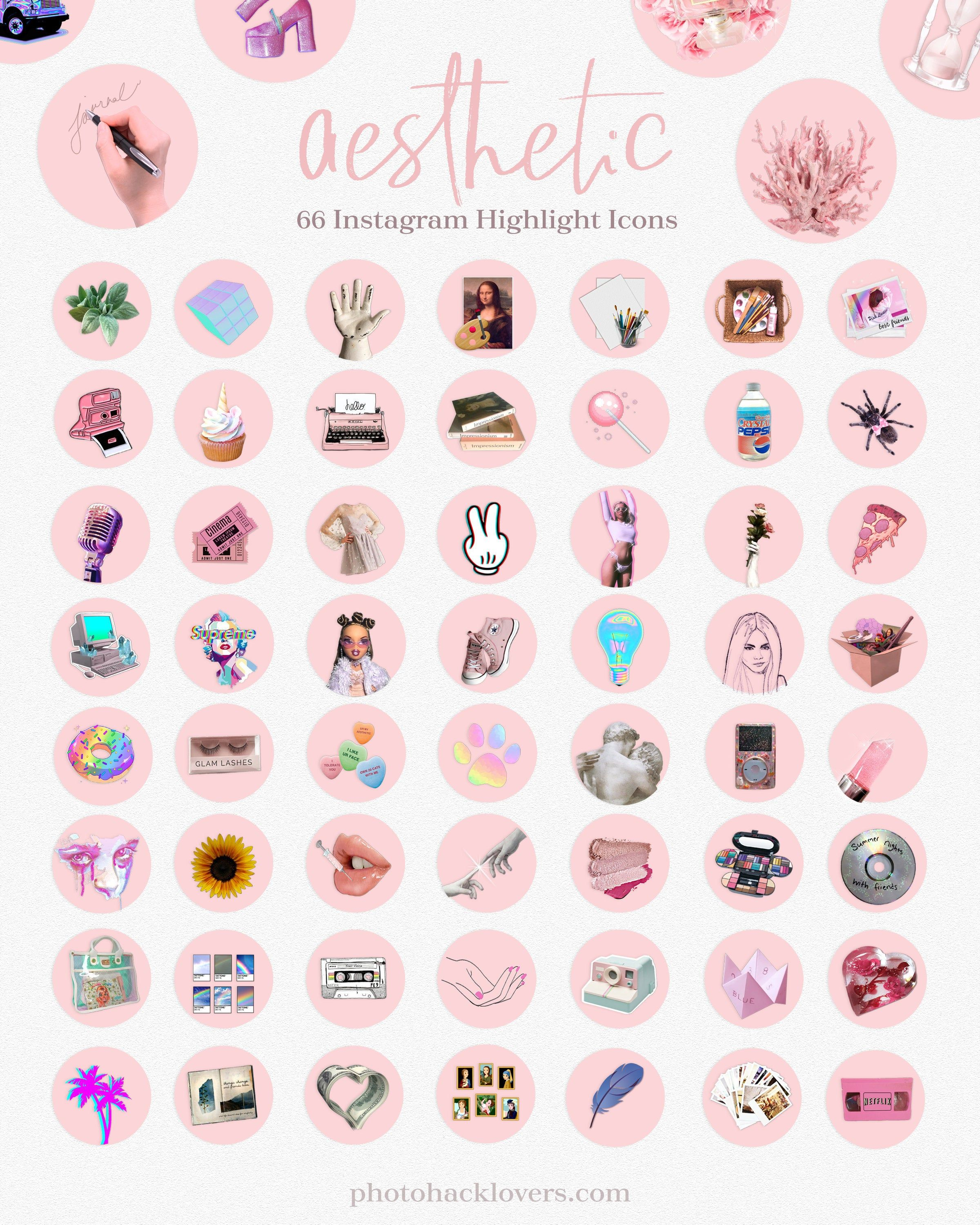 Instagram highlights Aesthetic Instagram icons Etsy in