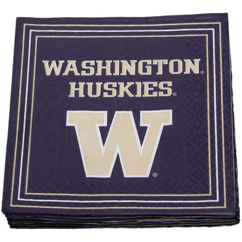 Washington Huskies 16-Pack Beverage Napkins